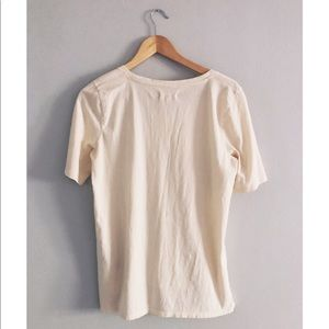 Madewell Tops - Madewell Cream Boyfriend Loose Weekend Tee